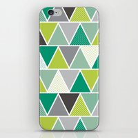 Triangulum - Emerald iPhone & iPod Skin