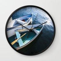 Winter Harbor Dory - Mai… Wall Clock