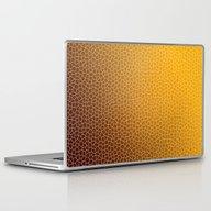 Orange Abstract Pattern Laptop & iPad Skin