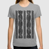 Cable Row Womens Fitted Tee Tri-Grey SMALL