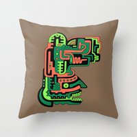 Dimensional Being Throw Pillow
