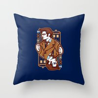 10th of Hearts Throw Pillow