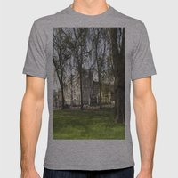 Buckingham Palace Art Mens Fitted Tee Athletic Grey SMALL