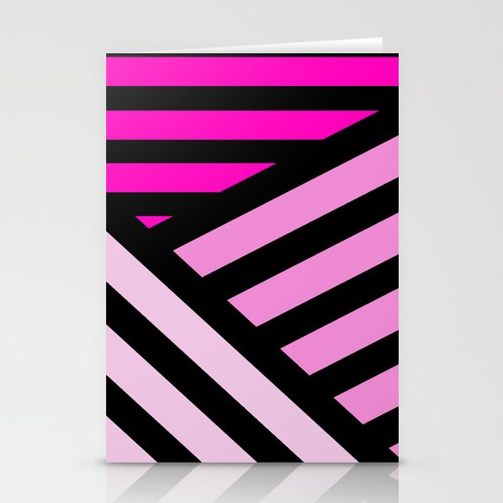 STRIPED {PINK} Stationery Card