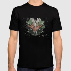 CAMOUFLAGE SMALL Black Mens Fitted Tee