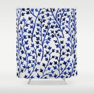 Shower Curtain featuring Porcelain Ivy  by Cat Coquillette