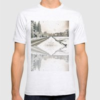Yosemite Snowy Meadow Mens Fitted Tee Ash Grey SMALL