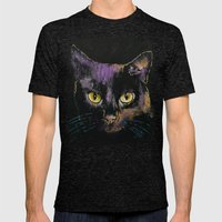 Shadow Cat Mens Fitted Tee Tri-Black SMALL