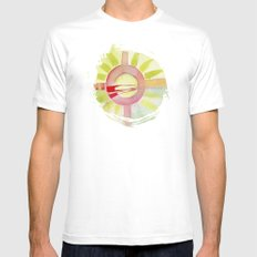 emotional White SMALL Mens Fitted Tee