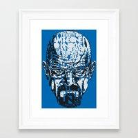 Heisenberg Quotes Framed Art Print