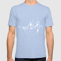 Dark Fiction Mens Fitted Tee Tri-Blue SMALL