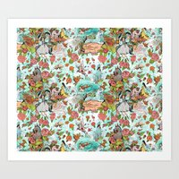 Fairy Tale Tapestry Art Print