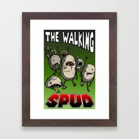 The Walking Spud Framed Art Print