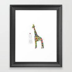 .jirafa. Framed Art Print