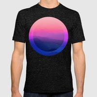 Como Sunset Mens Fitted Tee Tri-Black SMALL