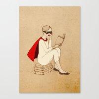 Superhero Reader Canvas Print