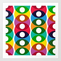 Geometric bubbles Art Print