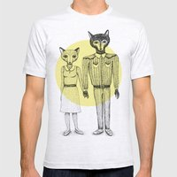 Fox and Wolf Mens Fitted Tee Ash Grey SMALL