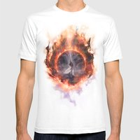 Set Fire To The Rain Mens Fitted Tee White SMALL