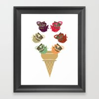 Chocolate Rippleboat Sun… Framed Art Print