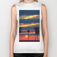 Palm Tree Sunset Biker Tank