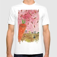 Everyone Love Carrot Mens Fitted Tee White SMALL