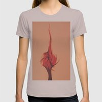 Flaming Tree Womens Fitted Tee Cinder SMALL