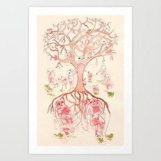 Árbol de familia Art Print