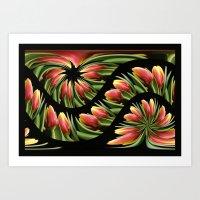 Tulip wave Art Print