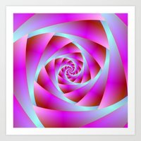 A Twist Of Blue And Pink Art Print