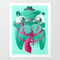 Monster's First Day At Work Art Print