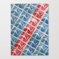 Vintage Postage Stamp Collection - 03 (airmail diagonal) Canvas Print