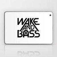Wake And Bass (Black) Laptop & iPad Skin