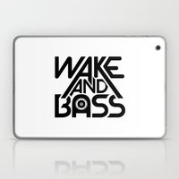 Wake And Bass (Black) Laptop & iPad Skin