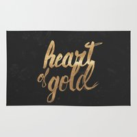 Heart of Gold Rug