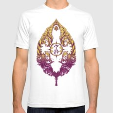 Serenity Victoriana Mens Fitted Tee SMALL White