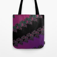 Fractal Layered Lace  Tote Bag
