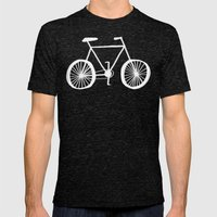 Bicycle Pattern Mens Fitted Tee Tri-Black SMALL