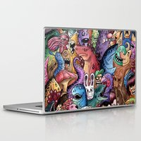community Laptop & iPad Skins featuring Colourful Community by Salih Gonenli