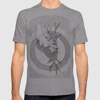 Cervidae Mens Fitted Tee Athletic Grey SMALL