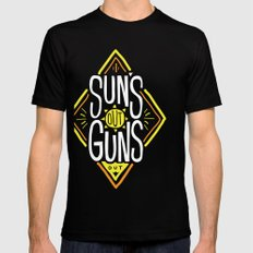 Sun's Out Guns Out Mens Fitted Tee Black SMALL