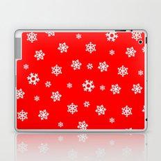 Snowflakes (White on Red) Laptop & iPad Skin