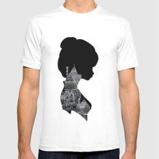 Little Houses Silhouette Mens Fitted Tee SMALL White