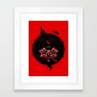 THE BLACK SUN Framed Art Print