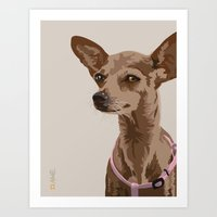 Macy the Chihuahua Dog Art Print