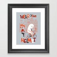 Wear Your Helmet Framed Art Print