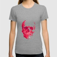 SK1013 Womens Fitted Tee Tri-Grey SMALL