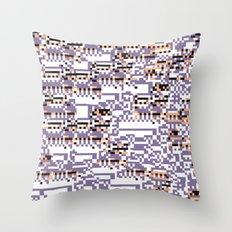 content-aware missingno Throw Pillow