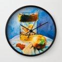 Onion & Burlap Wall Clock
