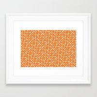 Control Your Game - White on Orange Framed Art Print